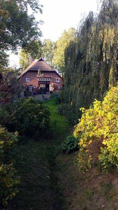 Wunderschöner Herbst auf Rügen | Herbst vor dem 400 Jahre alten Reetdachhaus der Fam Besch in Middelhagen (c) Frank Koebsch