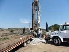 Drilling the well at our new Campo location.