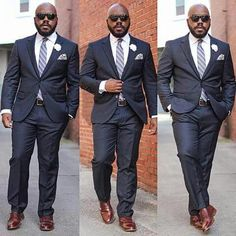 Big And Tall Mens Fashion Collections: Best Inspirations Chubby Men Fashion, Large Men Fashion, Mens Fashion Week, Big Fashion, Work Fashion, Mode Masculine, Sharp Dressed Man, Well Dressed Men, Big Man Suits