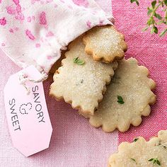 Lemon-Thyme Shortbread Cookies  From Better Homes and Gardens, ideas and improvement projects for your home and garden plus recipes and entertaining ideas.