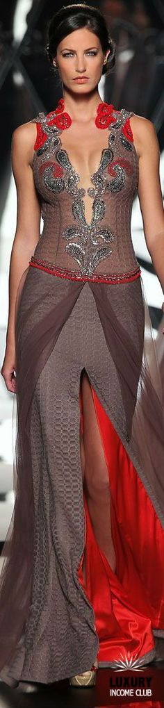 #DELORTAEAGENCY Fabulous Gown of The Day | MIREILLE DAGHER AW14#designer #MireilleDagher #luxury #haute #couture