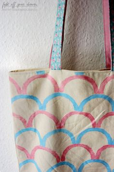 Stamp your own tote bag!