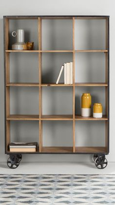 Humphrey large shelving unit, £499 MADE.COM This factory-style Humphrey shelving unit is updated with a little contemporary attitude, maintaining its vintage feel with an antique finish.