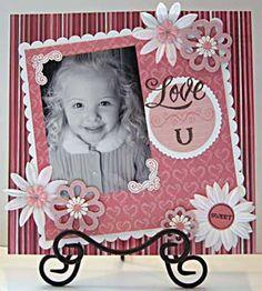 Scrapbook layout Gir l~ flowers Baby Girl Scrapbook, Baby Scrapbook Pages, Kids Scrapbook, Wedding Scrapbook, Scrapbook Designs, Scrapbook Sketches, Scrapbook Page Layouts, Scrapbook Paper Crafts, Scrapbook Supplies