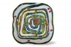 Hundertwasser 'Spiralental' decorative plate, 1983
