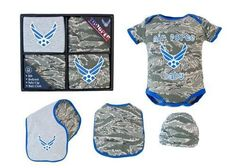 Air Force Baby 4pc Gift Set - Ammo Can Man