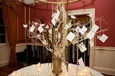 I like the idea of wishing tree. DIY: How to make a wedding wishing tree