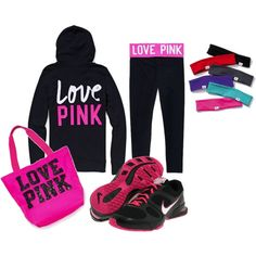 VS-PINK; workout clothes