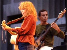 "Jaco Pastorious with Joni Mitchell, probably from the concert film ""Shadows and Light""."