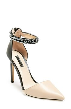 Topshop 'Geraniam' Ankle Strap Pump (Women) available at #Nordstrom
