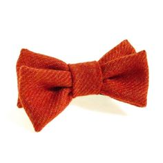 Donegal tweed bow tie.