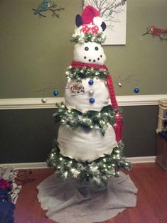 Snowman Christmas Tree by cheerupem0kidx0x