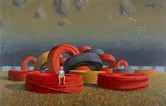 jeffrey smart - the cable coils Art Painting Oil, Contemporary Artists, Australian Art, Smart Art, A Level Art, Watercolor Mixing, Magic Realism, Australian Painters, Love Art