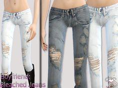 JavaSims' Boyfriend Bleached Jeans