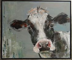 Cow Paintings On Canvas, Animal Paintings, Animal Drawings, Art Drawings, Cow Pictures, Woodland Art, Barnyard Animals, Farm Art, Cow Art