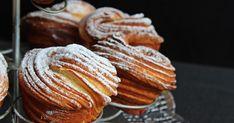 cruffin vaníliakrémmel töltve Bread Recipes, Baking Recipes, Cake Recipes, Dessert Recipes, Sicilian Recipes, Best Banana Bread, Creative Cakes, Nutella, Pancakes