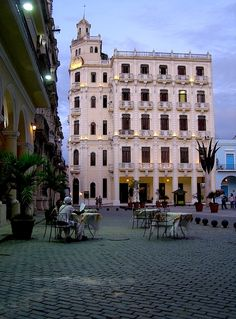 Plaza Vieja is a main tourist attraction in old Havana, Cuba.