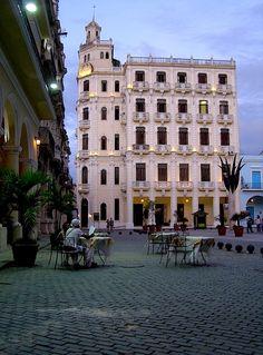 Plaza Vieja is a main tourist attraction in old Havana, Cuba.