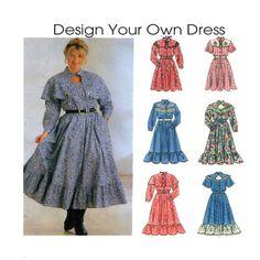 Designer Your Own Western Dress Simplicity by FindCraftyPatterns, $10.00
