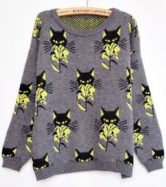 98 Best Cat Knits Sweaters Images Cat Sweaters Sweaters Gatos