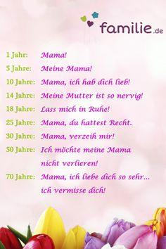 Facebook-Sprüche über Mütter
