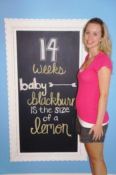 Pregnancy chalkboard: 14 week update!