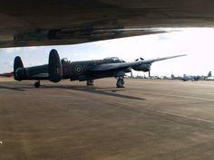 Avro Lancaster taken from under XH558