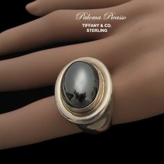 Paloma Picasso Tiffany & Co Sterling Hematite by AntiquingOnLine, $675.00 at https://www.etsy.com/listing/152050659/paloma-picasso-tiffany-co-sterling