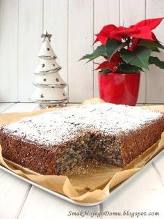 Smak Mojego Domu: Makowiec z jabłkami Apple Cinnamon Bread, Cinnamon Apples, Polish Recipes, Vanilla Cake, Cake Recipes, Food Porn, Food And Drink, Pudding, Sweets