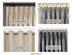 Custom Made Pinch Pleat Curtains Melbourne. Awning Stripe Pencil Pleat Ready Made Curtains At LAURA . Home Design Ideas Pinch Pleat Curtains, Pleated Curtains, French Pleat, Grey Front Doors, Drapery Designs, King Bed Frame, Drapery Panels, Window Styles, Window Coverings