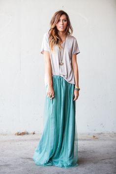 casual maxi and tee