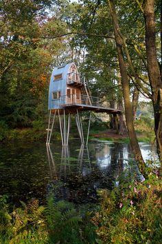 IDYLL: Plasseringen i dammen har tydelige estetiske kvaliteter. (FOTO: Markus Bollen)