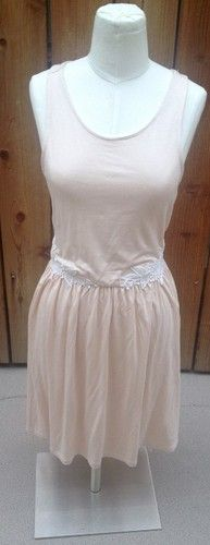 Light peachy pink dress by Kimchi Blue from Urban Outfitters, with the loveliest little detailing of lace on the hips...