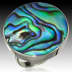 Check Out These Major Bargains: Marcasite & Paua Shell Ring