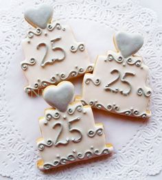 25th Wedding Anniversary Cake Cookie