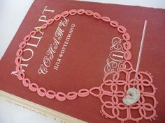 Tatting necklaces coral with the adder stone    amulet by ShopGift
