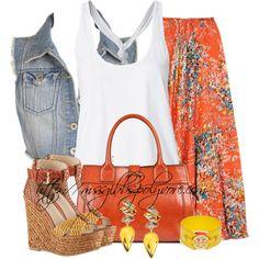 """Summer Maxi"" by mssgibbs on Polyvore"