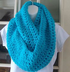 Turquoise blue cowl infinity scarf by MatsonDesignStudio on Etsy, $24.00