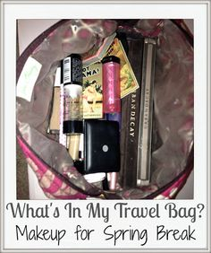List of makeup to pack for vacation/spring break. A little overboard, but still a good list. Me personally would bring less.