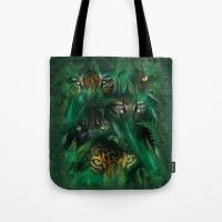 The Mountain Jungle Eyes Tote Bag