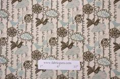 "Premier Prints Menagerie Cotton Drapery Fabric in Village Blue/Natural $7.48 per yard. 4x6"" $1 sample."