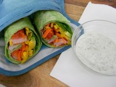 Rainbow Wrap - beautiful vegan lunch with gluten-free option.  So tasty!