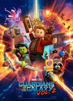 Lego Guardians of the Galaxy Volume 2 - Posters - LEGO® Marvel™ Super Heroes Lego Marvel's Avengers, Lego Batman, Lego Film, Poster Marvel, Gardians Of The Galaxy, Guardians Of The Galaxy Vol 2, Pop Marvel, Marvel Heroes, Lego Marvel Superheroes 2