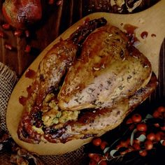 Cornish Hens in Apricot and Cranberry Glaze Christmas dinner idea