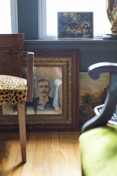 A self-professed seating addict, Carollo picked up this leopard-print velvet chair (part of a pair) on his first buying trip for Jayson Home, which took place in the South of France.   Lonny