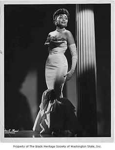 1930's-1940's | BERNICE JULIA HILBERT (circa 1945). Around 1938 she received a Rosenwald Scholarship for fashion design; it is believed she was the first African American woman to receive this award.