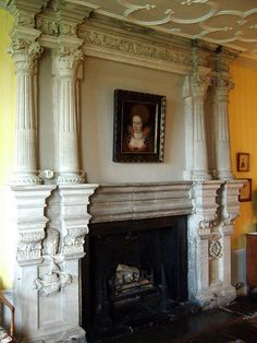 Broughton Castle, Oxfordshire by Sheepdog Rex, via Flickr Castles In England, Little Cottages, English Village, Manor Houses, Fireplace Design, Fireplaces, Old World, Tuscany, Stained Glass