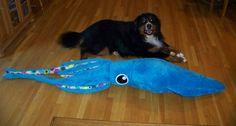 Giant Squid Plush by PartyhatPikachu.deviantart.com on @deviantART
