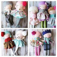 "Merry Christmas from SpunCandy Dolls!! #handmadedolls #fabricdolls…"""