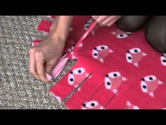 No Sew Fleece Blanket :: Easy DIY Tie Blankets - YouTube